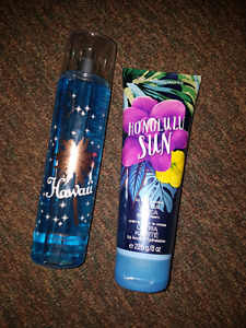Bath and body works spray and hand cream