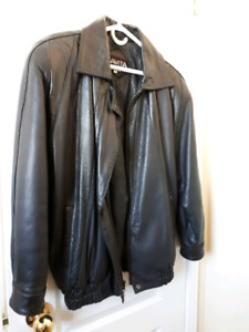 Mens/Ladies Leather Bomber Style Jacket
