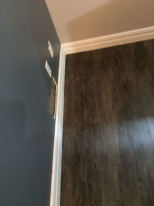 we can SUPPLY quality Baseboards; and we do installation for an
