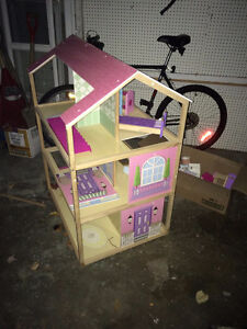 HUGE Wooden Dollhouse and Furniture Windsor Region Ontario image 1