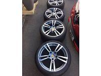 Porsche style alloy wheels