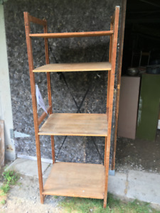 Vintage Wide Solid Wood Shelving Units. $60 for Units