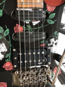 RARE FIND- ESP LTD M-200SR Skull & Roses-Floyd Rose-EVH Franky