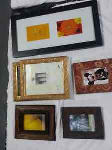 Variety of 6 picture frames