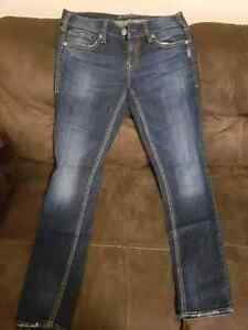 New Condition Silver Skinny Jeans