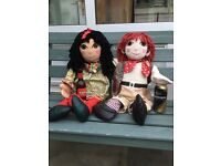 Rosie & Jim Rag Dolls toys, canal Boat