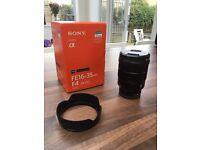 Sony 16-35 F4 Zeiss lens