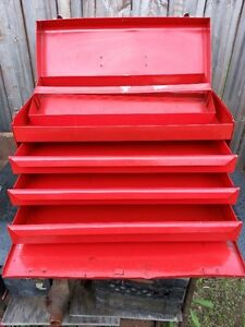 3 Drawer Metal Tool Box - Good Condition