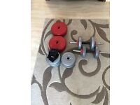 Barbell and dumbbell set