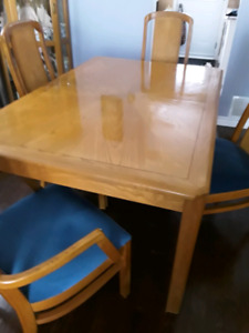 Oak Dining Room Set with China Cabinet
