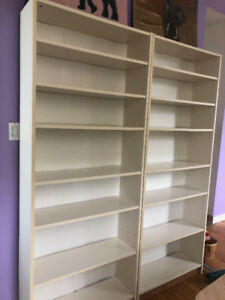 2 large white Ikea bookshelves for sale