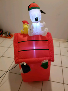 Christmas Inflatable Snoopy & Woodstock blow up