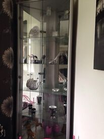 Stunning silver glass unit with light