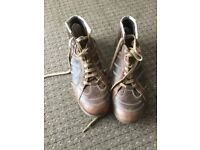 Levis high ankle boots leather upper size 8 1/2. 8.5. 9 freepost free post