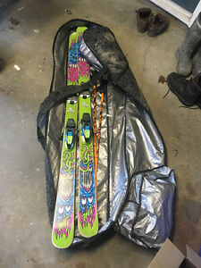 Line afterbang skis and dakine ski bag