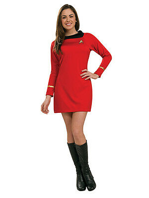 Ladies Deluxe Uhura Original Classic Star Trek Fancy Dress Costume Adult Outfit