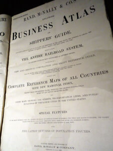 1896 RAND McNALLY enlarged ATLAS business SHIPPER'S railroads