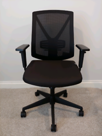 Realspace Synchro Tilt Ergonomic Office Chair, Lumber+Height ajustment