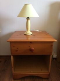 Bedside tables with lamps