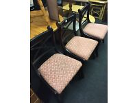 Solid mahogany dining chairs