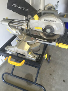 Workforce 10 Inch Sliding Compound Mitre Saw and Table