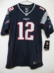 NFL NIKE OFFICIAL NEW ENGLAND PATRIOTS BRADY FOOTBALL JERSEY NWT