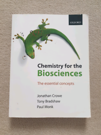 Chemistry for the Biosciences the essential concepts textbook