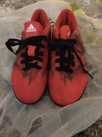 Orange adidas size 5 indoor football traners