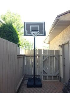 """Huffy Sports"" black Portable Basketball System … HARDLY USED!!!"