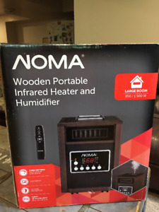 WOODEN INFRARED HEATER AND HUMIDIFIER - BRAND NEW
