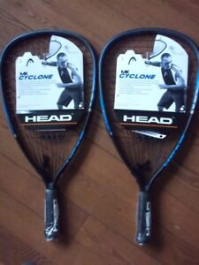 2 New Head MX Cyclone Racquetball Racquets