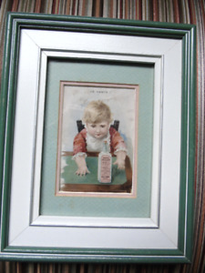 VINTAGE MEDICINE WALL PICTURE, HE WANTS IT.