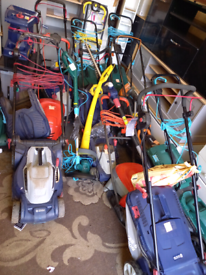 Many Garden Equipment including Lawnmowers. Grass Strimmers. Hedge Tri