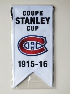 CENTENNIAL STANLEY CUP 1915-16 BANNER MONTREAL CANADIENS HABS