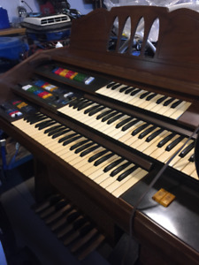 Antique organ and bench
