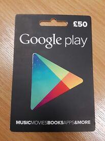 £50 Google Play Voucher