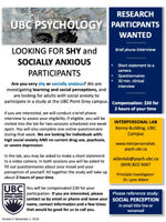 Is SOCIAL ANXIETY a concern for you? Participate in a PAID study