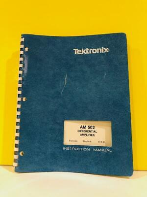 Tektronix 070-1582-01 Am 502 Differential Amplifier Instruction Manual