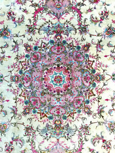 Persian Rug from Tabriz - Handwoven with original signature