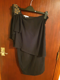 Black One Shoulder Dress New Look Size 8