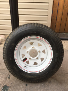 Brand new spare boat tire and rim