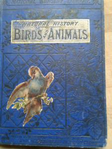 Book - Antique Wayne's Picture Natural History 'Birds & Animals'