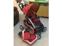 Dolls pram / pushchair with car seat Graco