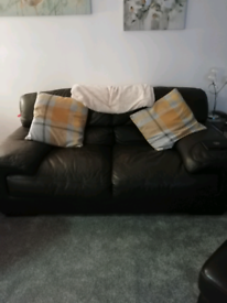Chocolate 2 seater settee