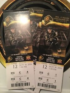 4 knights tickets $10 each section 313 seats 1-4 - London Ontario image 1