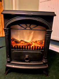 Real flame effect electric heater