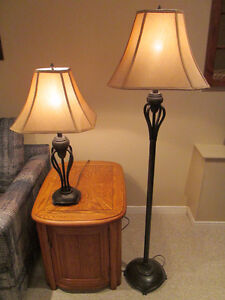 FLOOR LAMP AND TABLE LAMP SET