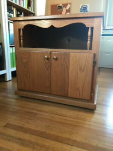Handmade, Solid-Wood Entertainment Unit