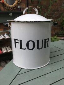 Nice enamel flour bin
