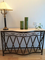 Wrought Iron/Metal Console Table